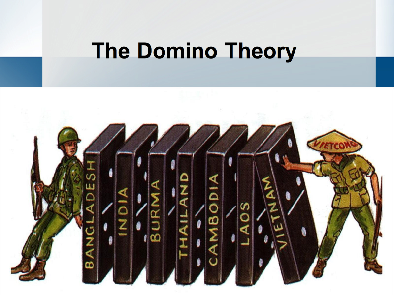 containment and the domino theory used during the cold war